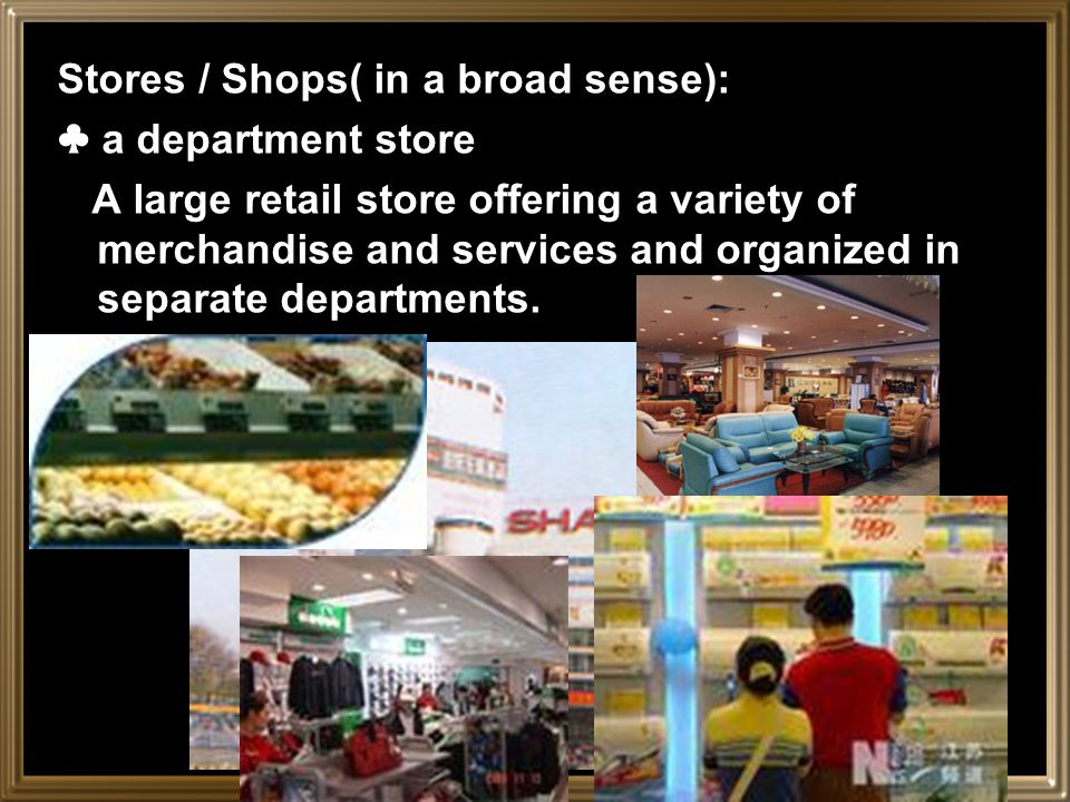 Where to shop A marketplace or a bazaar: An open area or square in a town where a public market or sale is set up.