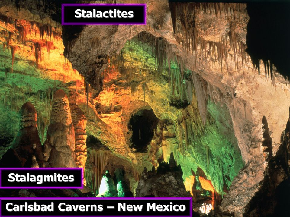 Carlsbad Caverns – New Mexico Stalactites Stalagmites