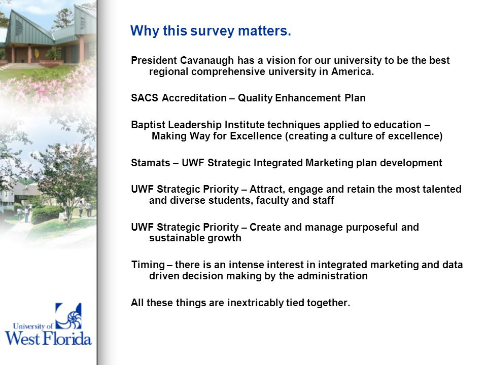 Why this survey matters.