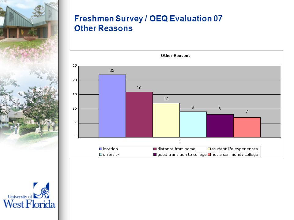 Freshmen Survey / OEQ Evaluation 07 Other Reasons