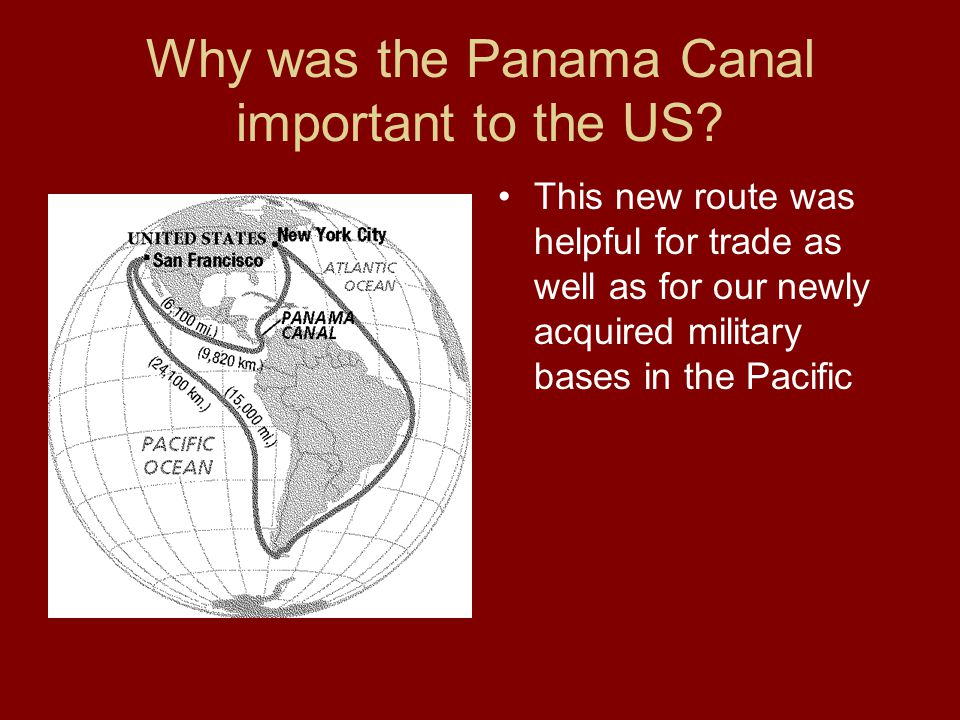 Why was the Panama Canal important to the US.
