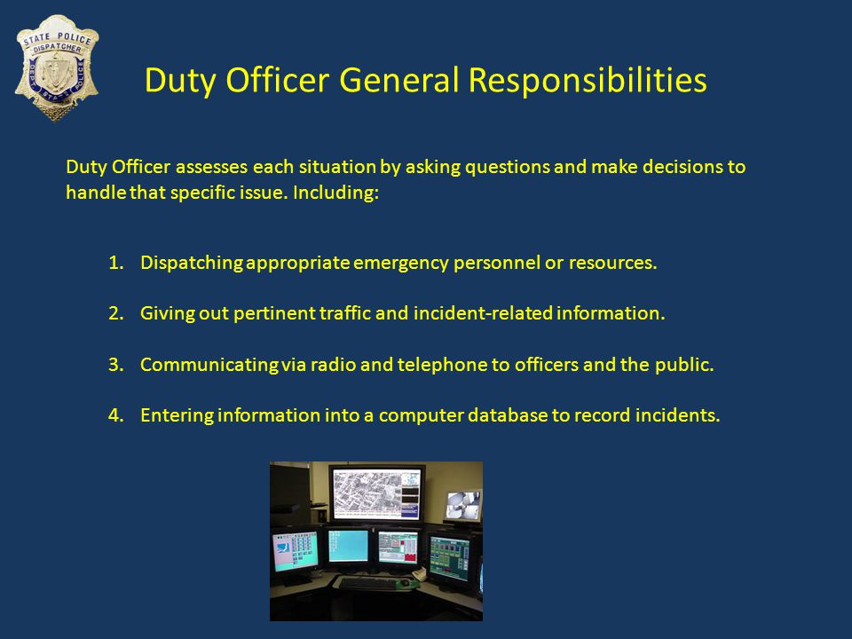 Radio Communication Officer safety is the agencys number one priority.