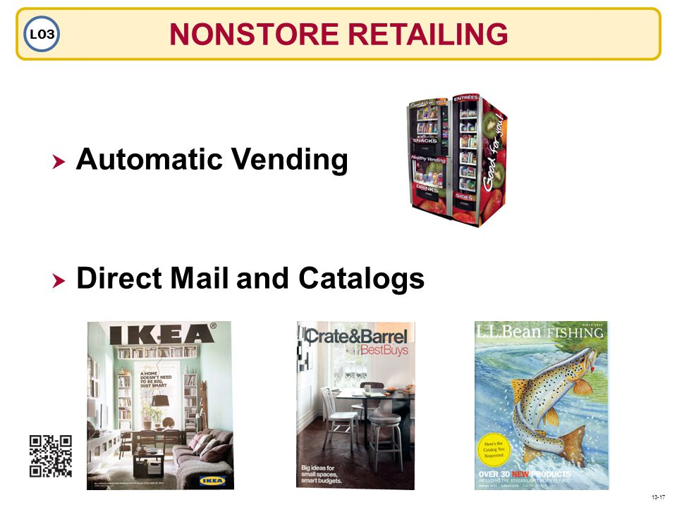 NONSTORE RETAILING LO3 Automatic Vending Direct Mail and Catalogs 13-17