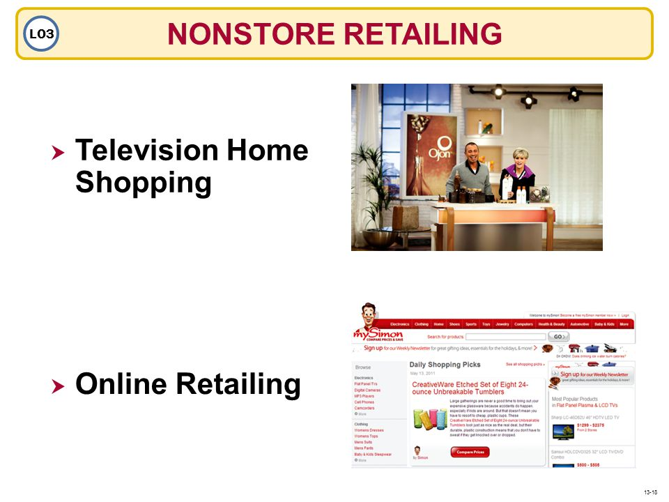 NONSTORE RETAILING LO3 Television Home Shopping Online Retailing 13-18