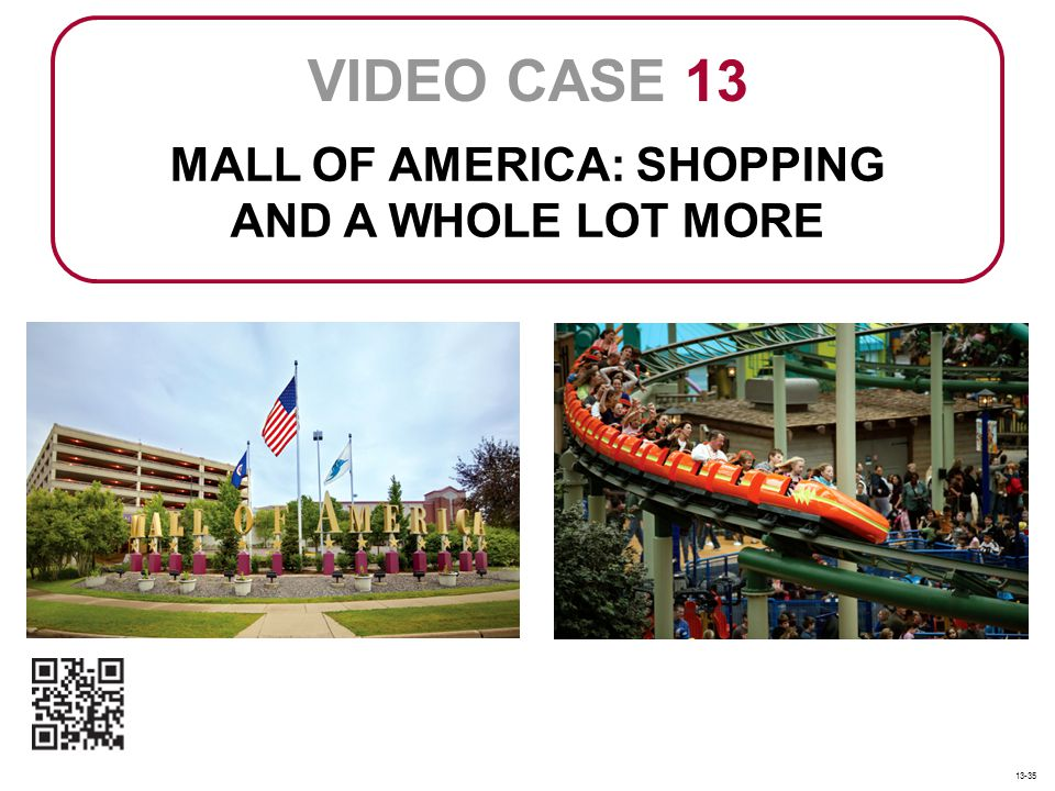MALL OF AMERICA: SHOPPING AND A WHOLE LOT MORE VIDEO CASE 13 13-35