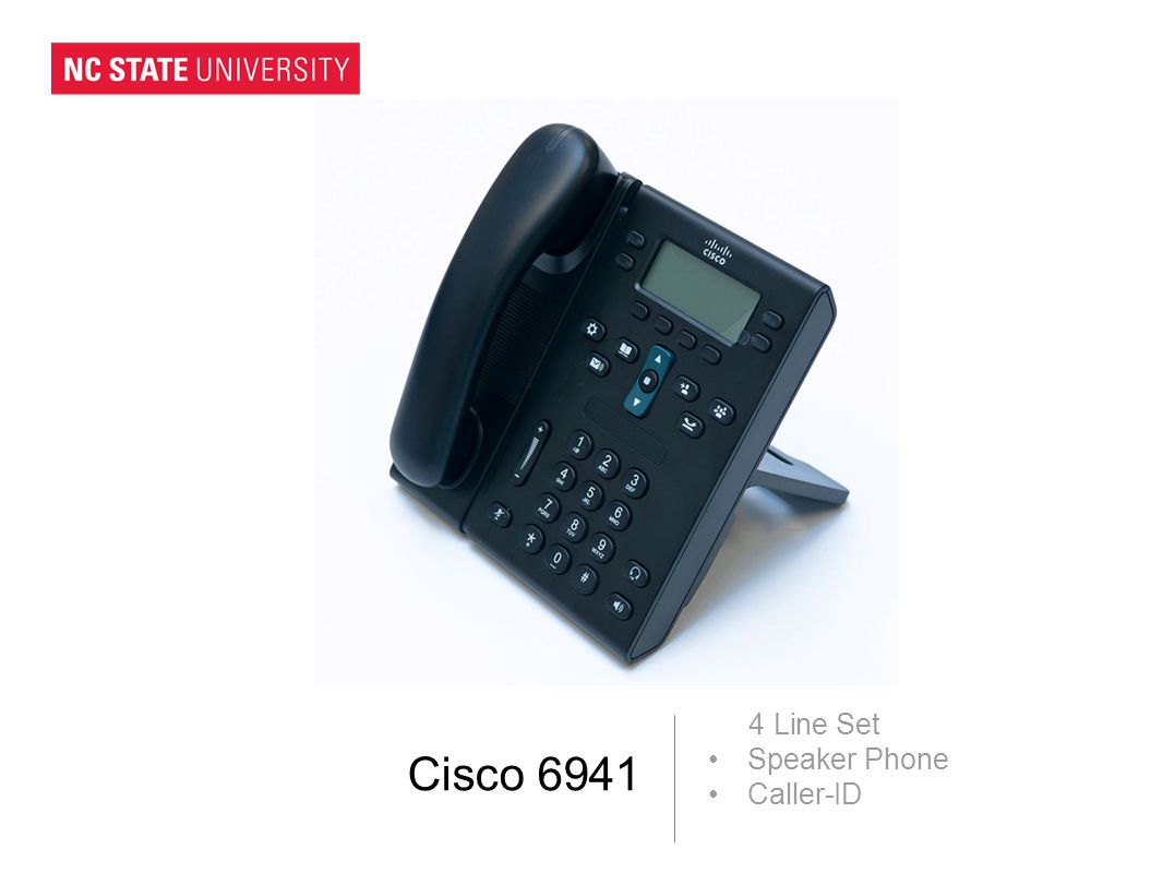 Cisco 6941 4 Line Set Speaker Phone Caller-ID