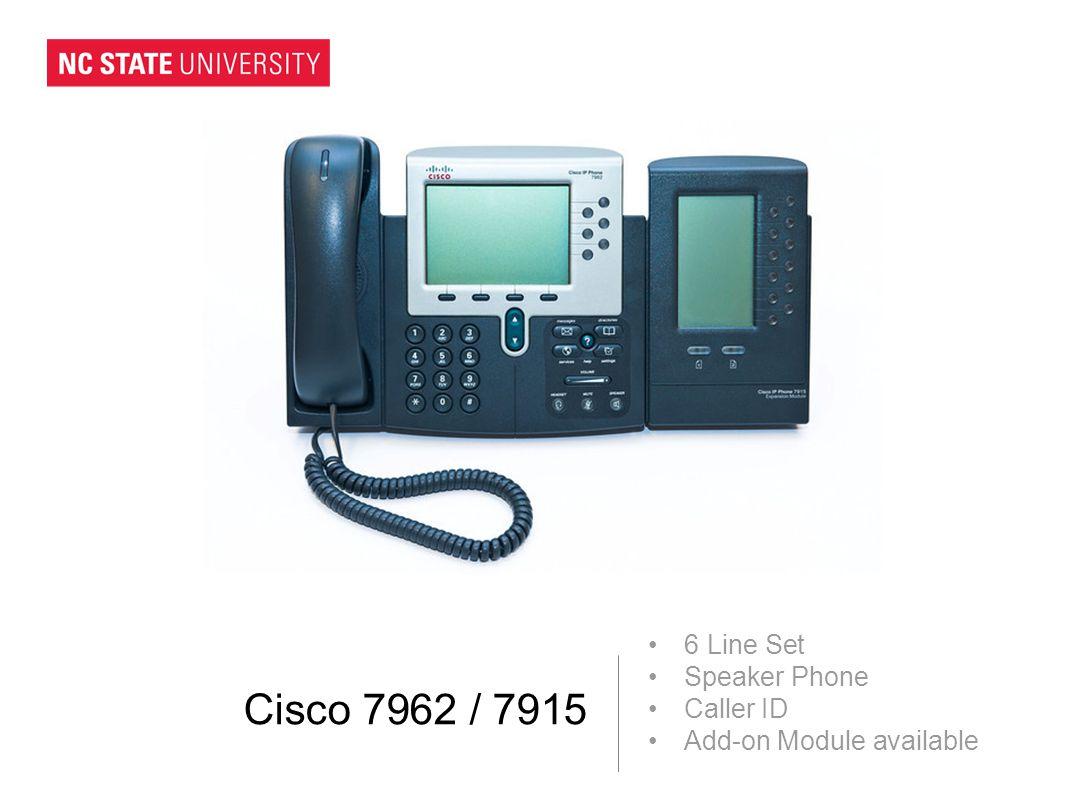 Cisco 7962 / 7915 6 Line Set Speaker Phone Caller ID Add-on Module available