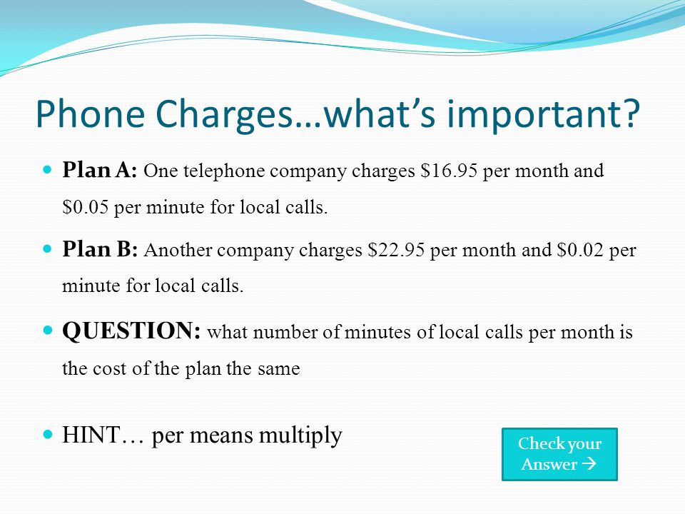 Phone Charges…whats important.