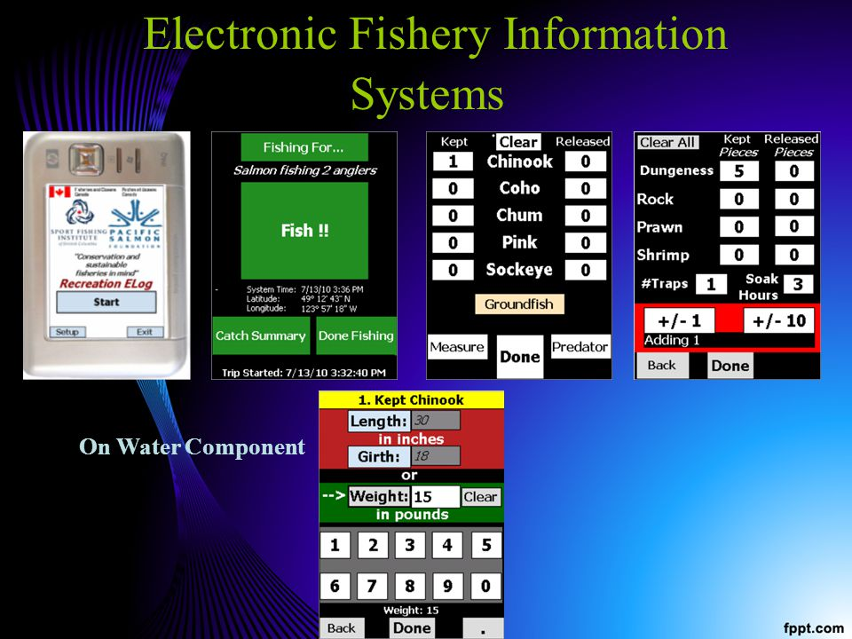 Electronic Fishery Information Systems On Water Component
