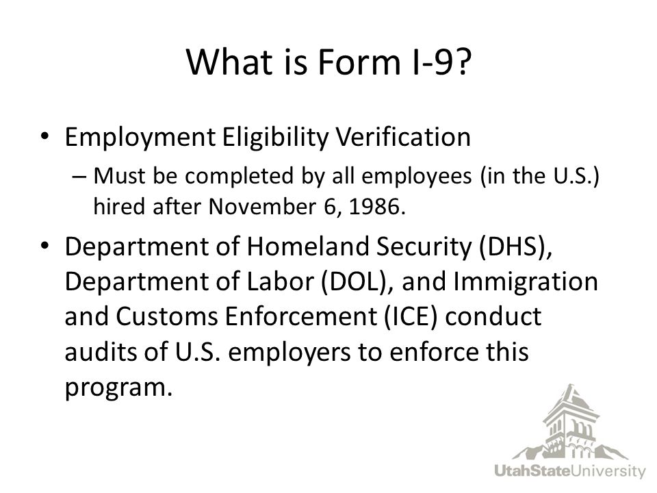 What is Form I-9.