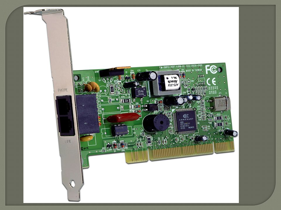 TWO BASIC PHYSICAL TYPES OF MODEM: 1. INTERNAL MODEM:2. EXTERNAL MODEM: Modems that are fixed within the computers. The advantage of an internal modem