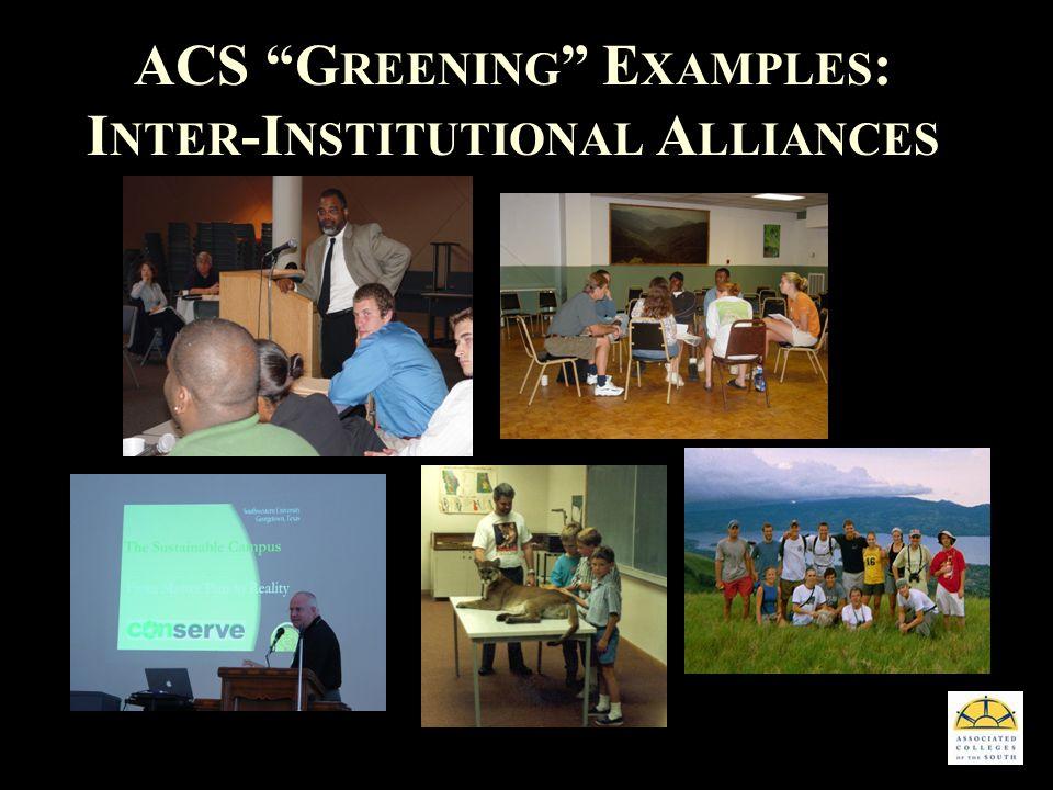 ACS G REENING E XAMPLES : I NTER -I NSTITUTIONAL A LLIANCES