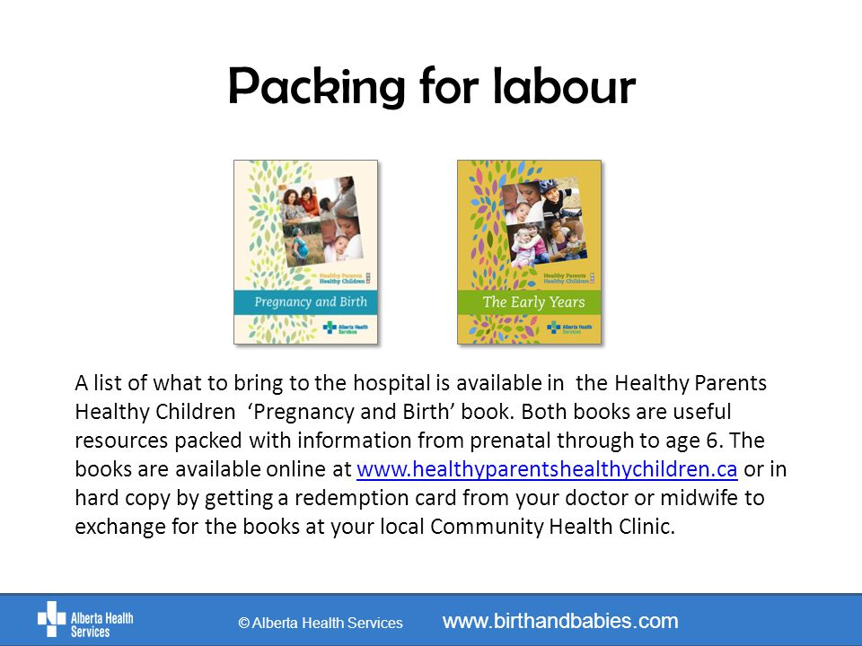 Parking © Alberta Health Services www.birthandbabies.com Enter through Parking Lot B and park in the Forest Parking Section