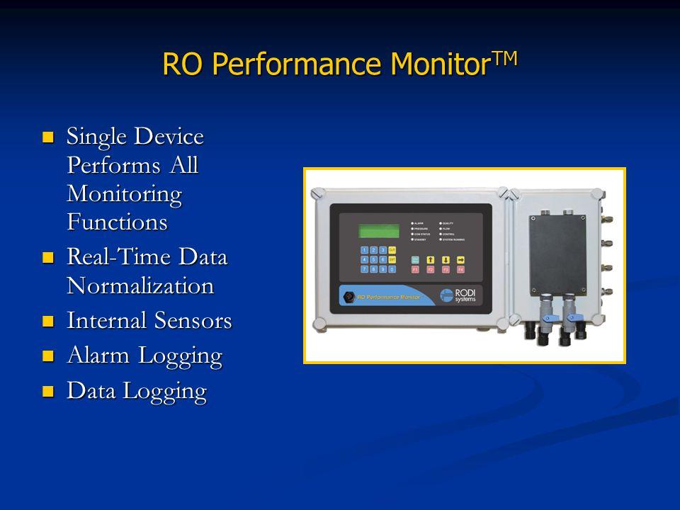 RO Performance Monitor TM Single Device Performs All Monitoring Functions Single Device Performs All Monitoring Functions Real-Time Data Normalization