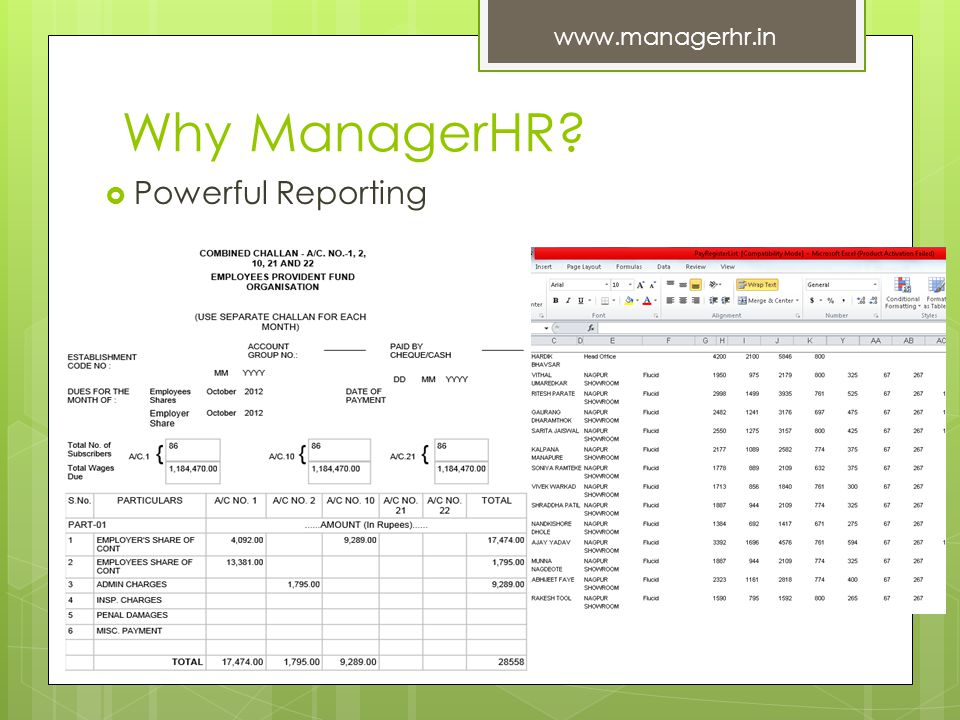 Why ManagerHR? Powerful Reporting www.managerhr.in