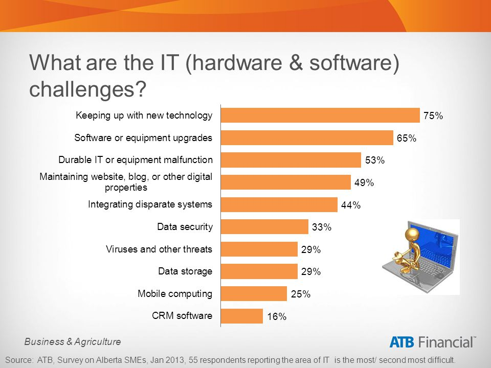 Business & Agriculture What are the IT (hardware & software) challenges.