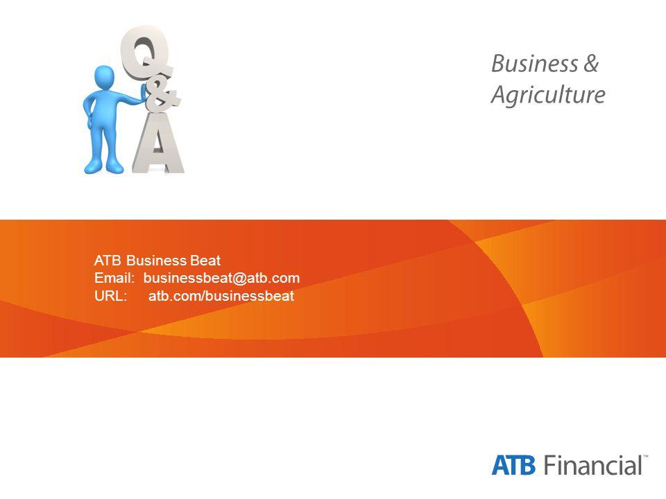 ATB Business Beat Email: businessbeat@atb.com URL: atb.com/businessbeat