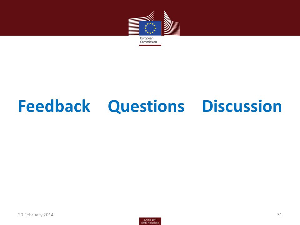 FeedbackQuestions Discussion 3120 February 2014