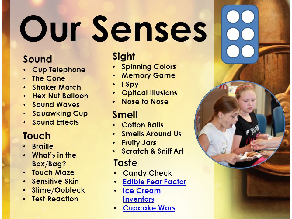 Our Senses Sound Cup Telephone The Cone Shaker Match Hex Nut Balloon Sound Waves Squawking Cup Sound Effects Touch Braille Whats in the Box/Bag? Touch
