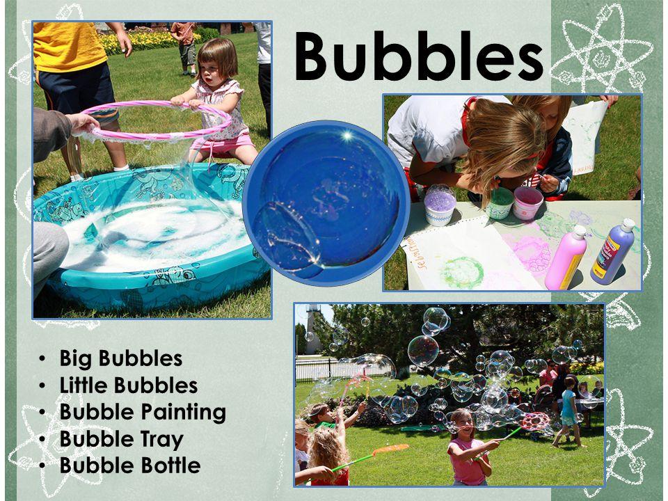 Bubbles Big Bubbles Little Bubbles Bubble Painting Bubble Tray Bubble Bottle