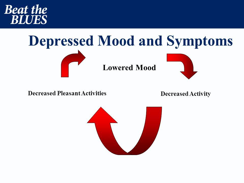 Depressed Mood and Symptoms Lowered Mood Decreased Pleasant Activities Decreased Activity