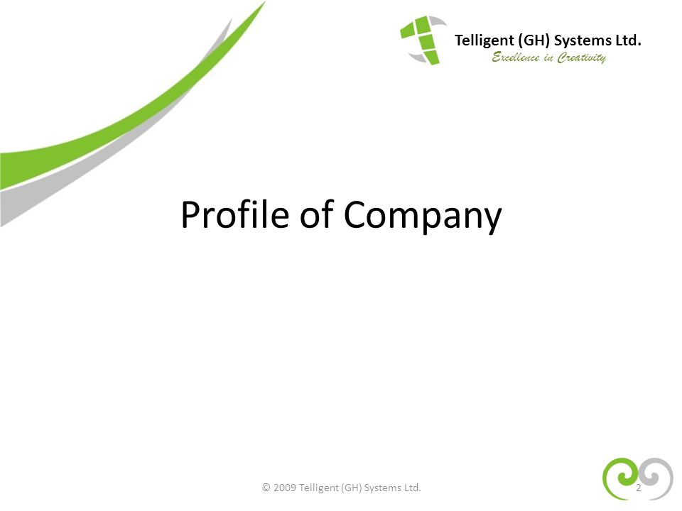 Profile of Company Telligent (GH) Systems Ltd.