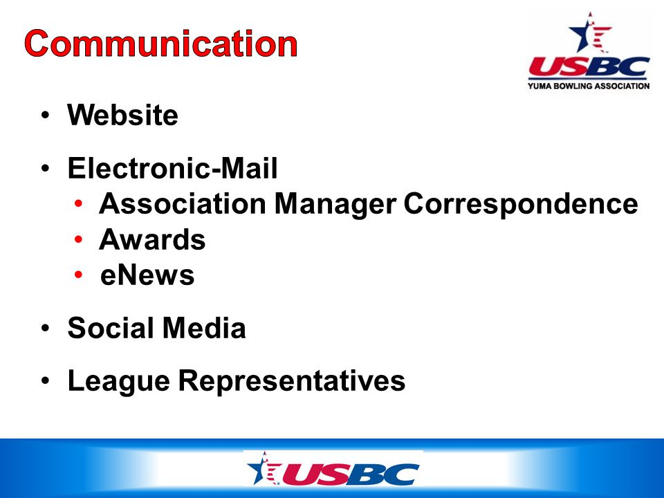 Website Electronic-Mail Association Manager Correspondence Awards eNews Social Media League Representatives