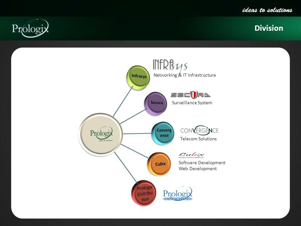 Division Networking & IT Infrastructure Surveillance System Telecom Solutions Software Development Web Development