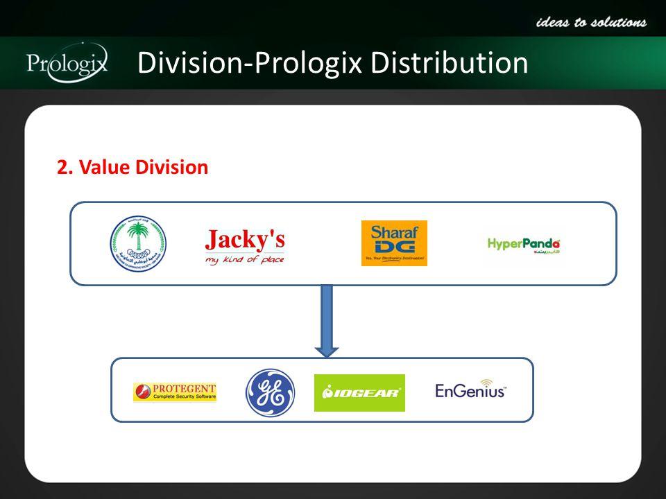 Division-Prologix Distribution 2. Value Division