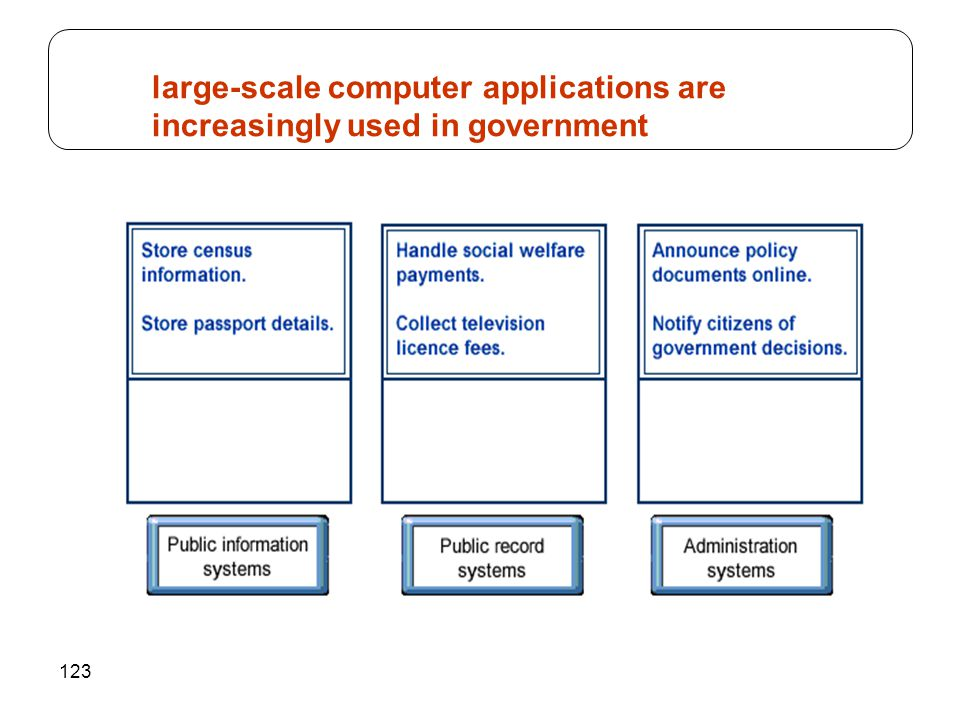 123 large-scale computer applications are increasingly used in government
