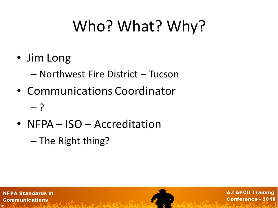 NFPA Standards How These Affect the Communications Center