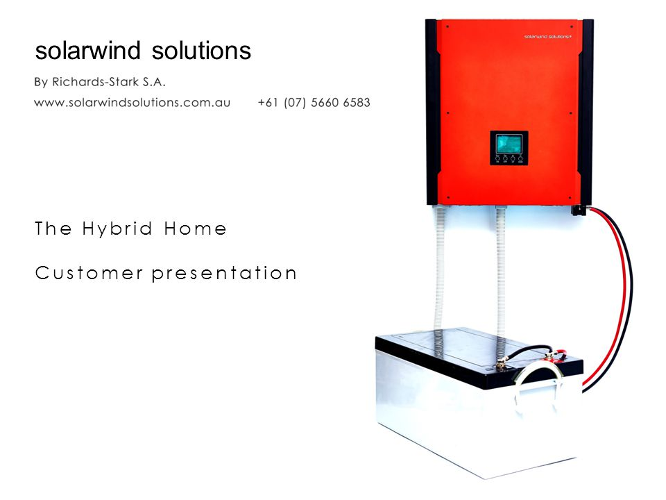 solarwind solutions The Hybrid Home Customer presentation