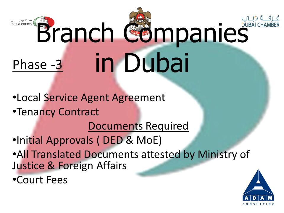 Phase -2 Trade Name Reservation ( DED) – Online Ministry of Economy Application Ministry Approval – AED 5000 Initial Approval ( Activity ) DED Branch Companies in Dubai