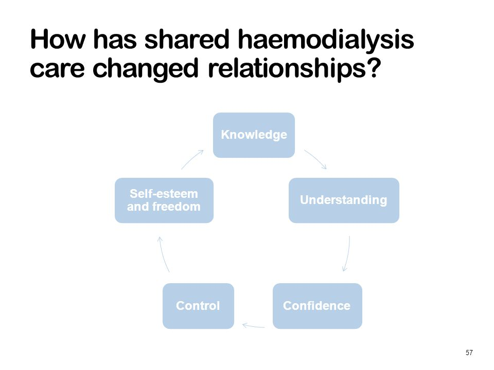 How has shared haemodialysis care changed relationships.
