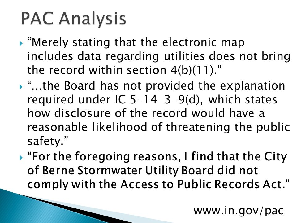 Merely stating that the electronic map includes data regarding utilities does not bring the record within section 4(b)(11).