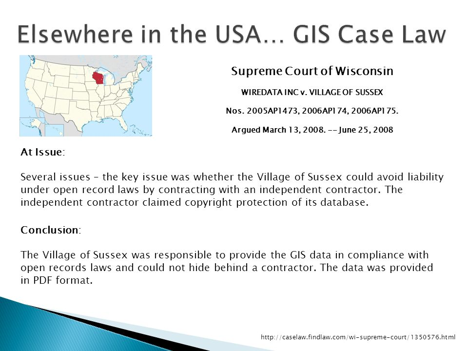 Supreme Court of Wisconsin WIREDATA INC v. VILLAGE OF SUSSEX Nos.2005AP1473, 2006AP174, 2006AP175.