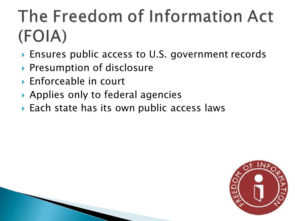 Ensures public access to U.S.