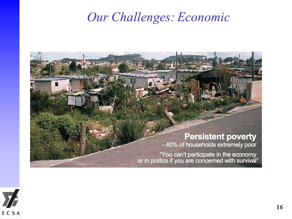 Our Challenges: Economic 16