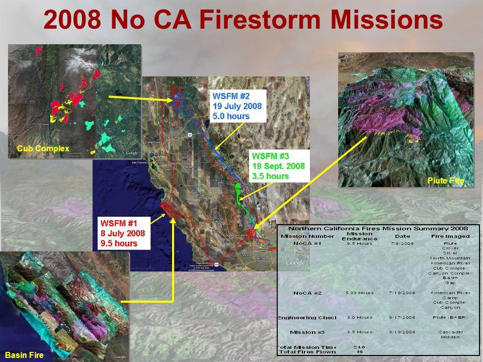 2008 No CA Firestorm Missions Cub Complex Piute Fire Basin Fire