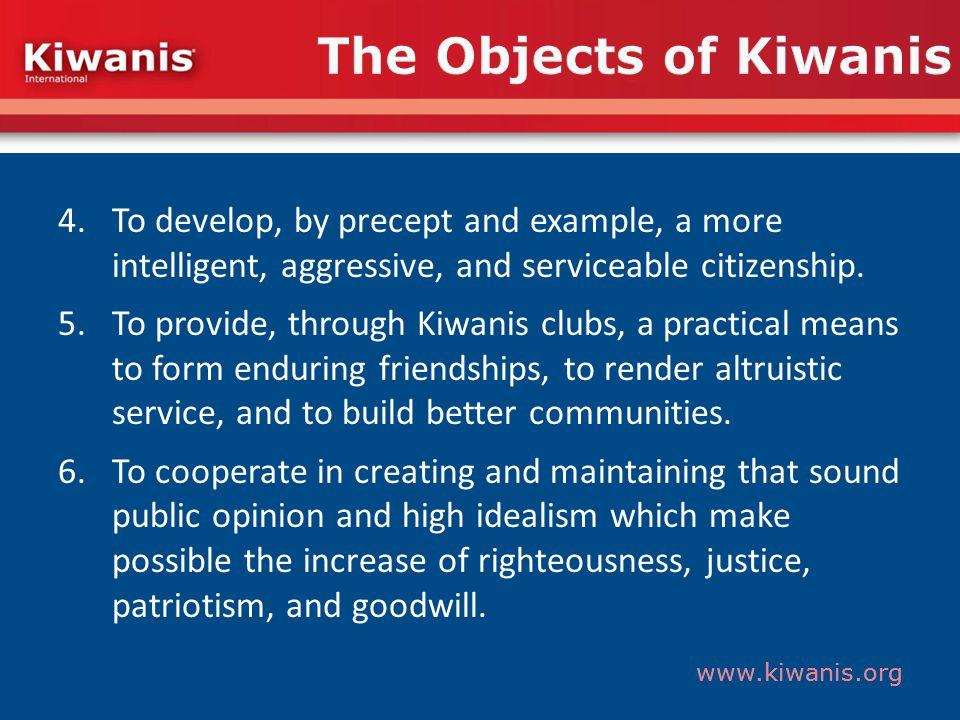 www.kiwanis.org Structure Kiwanis branded service projects Kiwanis One Day www.KiwanisOne.org/OneDay Read Around the World www.KiwanisOne.org/Read Young Children: Priority One www.KiwanisOne.org/YCPO www.kiwanisorillia.ca