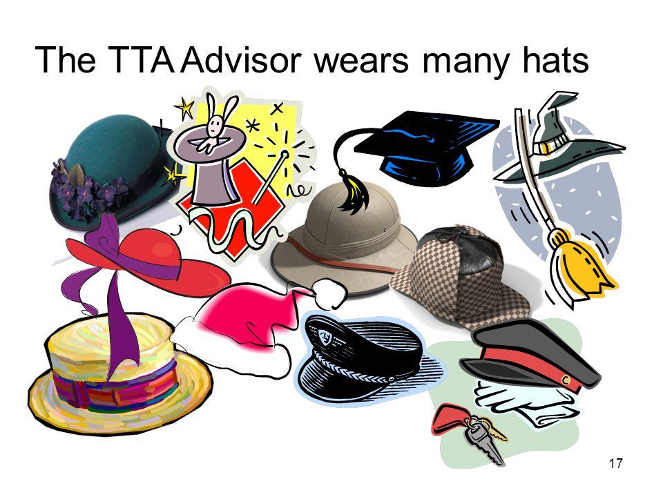 17 The TTA Advisor wears many hats