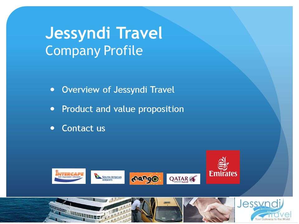Corporate Governance The general principles recommended by the King Report which Jessyndi Travel subscribes to are:- Accountability; Anti-corruption; Ethical Behaviour; Respect for the rights of all stakeholders, and Transparency.