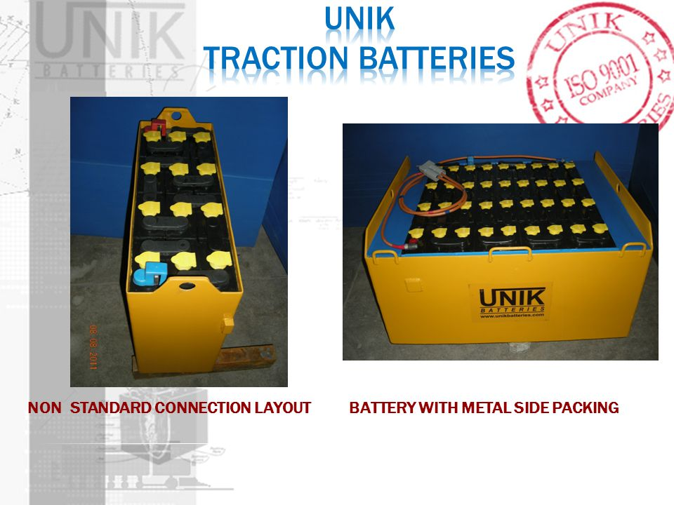 NON STANDARD CONNECTION LAYOUT BATTERY WITH METAL SIDE PACKING