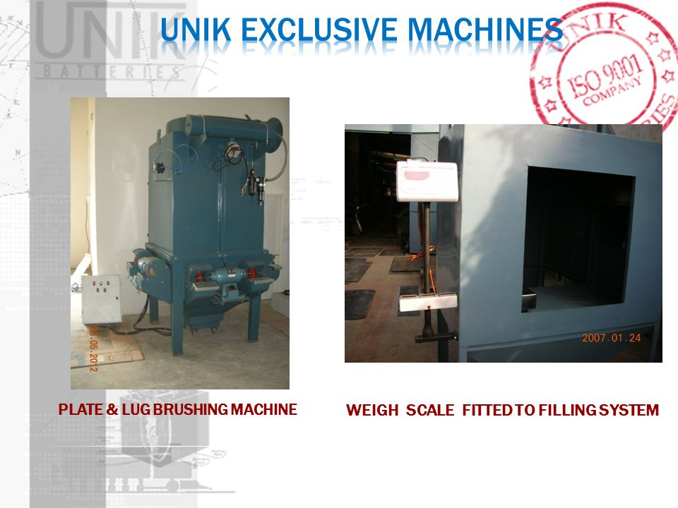 PLATE & LUG BRUSHING MACHINE WEIGH SCALE FITTED TO FILLING SYSTEM