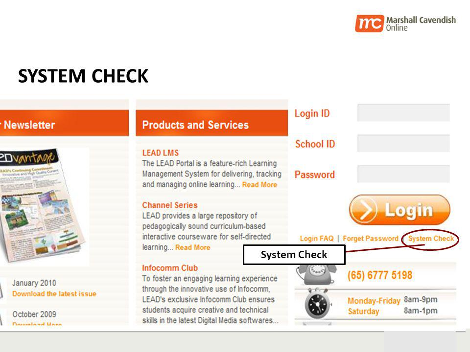 28th Oct 05 36 SYSTEM CHECK System Check