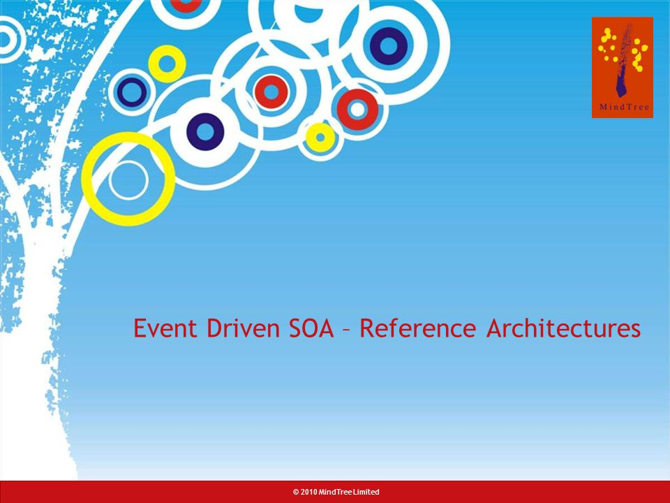 © 2008 MindTree Consulting© 2010 MindTree Limited Event Driven SOA – Reference Architectures