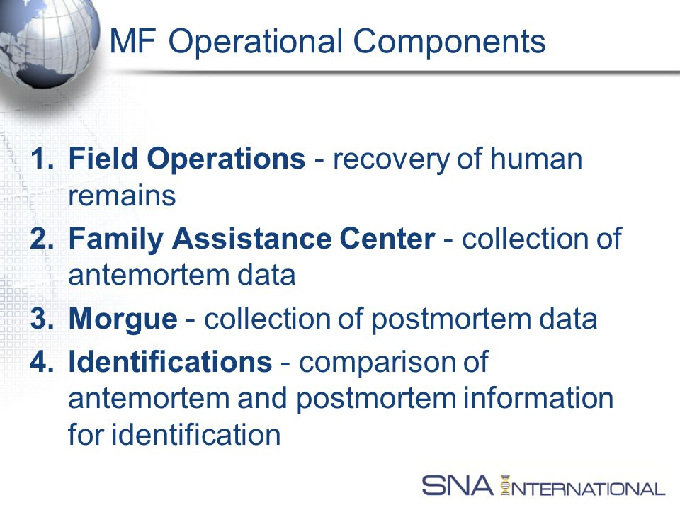 Response Components Identification and Reunification RecoveryFACMorgue