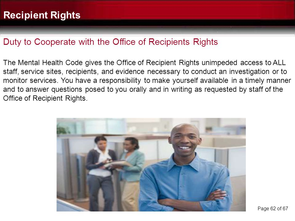 After receiving a report or a complaint of an apparent or suspected rights violation the Office of Recipient Rights will determine if it warrants inve