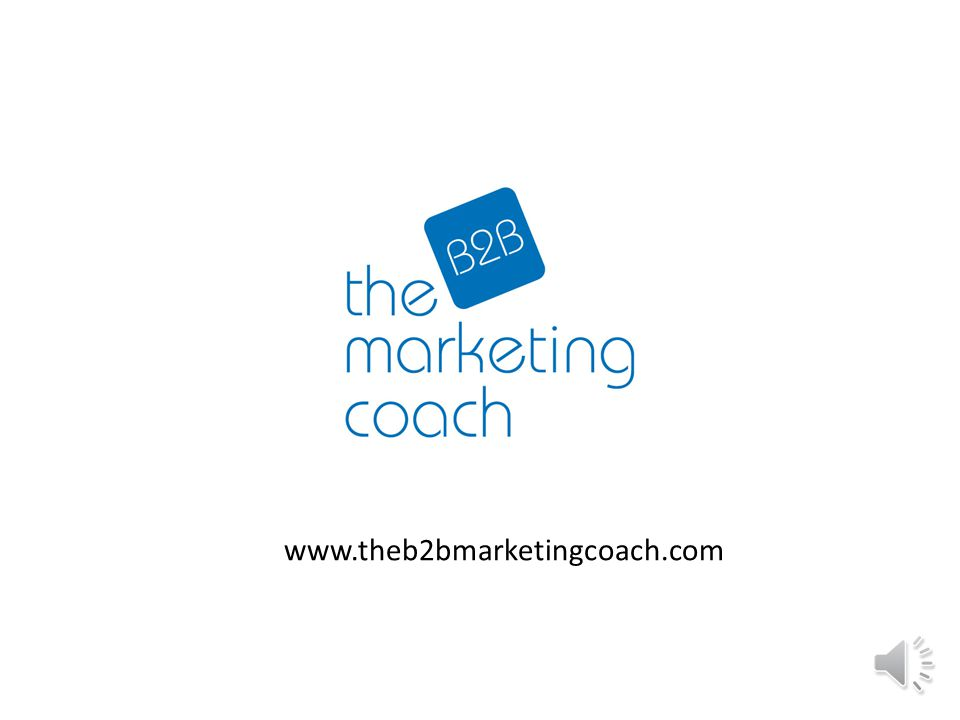 How can The B2B Marketing Coach help your marketing to the next level.
