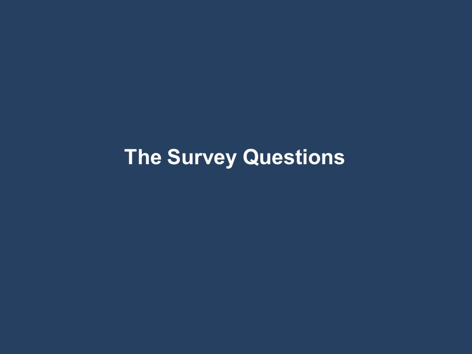 The Survey Questions